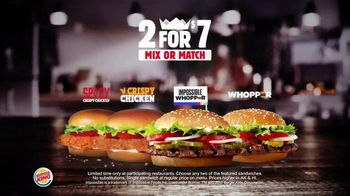 Burger King 2 for $7 TV Spot, 'Mix or Match: Impossible Whopper' - Thumbnail 8