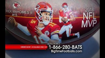 Big Time Bats TV Spot, 'Patrick Mahomes 2018 NFL MVP Art Football' - 14 commercial airings