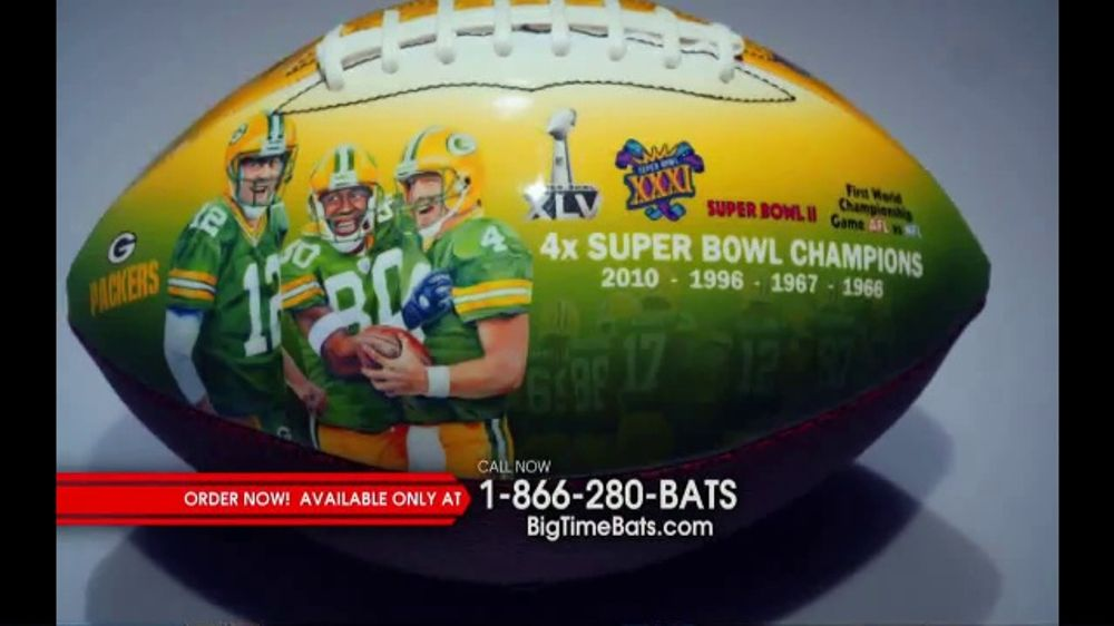Big Time Bats TV Commercial, 'Green Bay Packers NFL 100th Legacy Art Football'