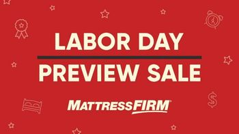 Mattress Firm Labor Day Preview Sale TV Spot, 'King for the Price of a Queen' - Thumbnail 2