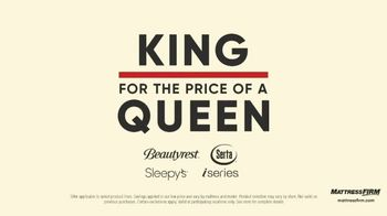 Mattress Firm Labor Day Preview Sale TV Spot, 'King for the Price of a Queen' - Thumbnail 3