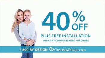 Closets by Design TV Spot, 'Imagine Your Home' - Thumbnail 5