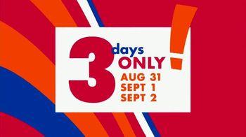 Big Lots Big Labor Day Sale TV Spot, 'Three Day Deals' - Thumbnail 2