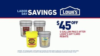 Lowe's Labor Day Savings TV Spot, 'Do It Right: $45 Off' - Thumbnail 8