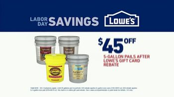 Lowe's Labor Day Savings TV Spot, 'Paint and Stains' - Thumbnail 9