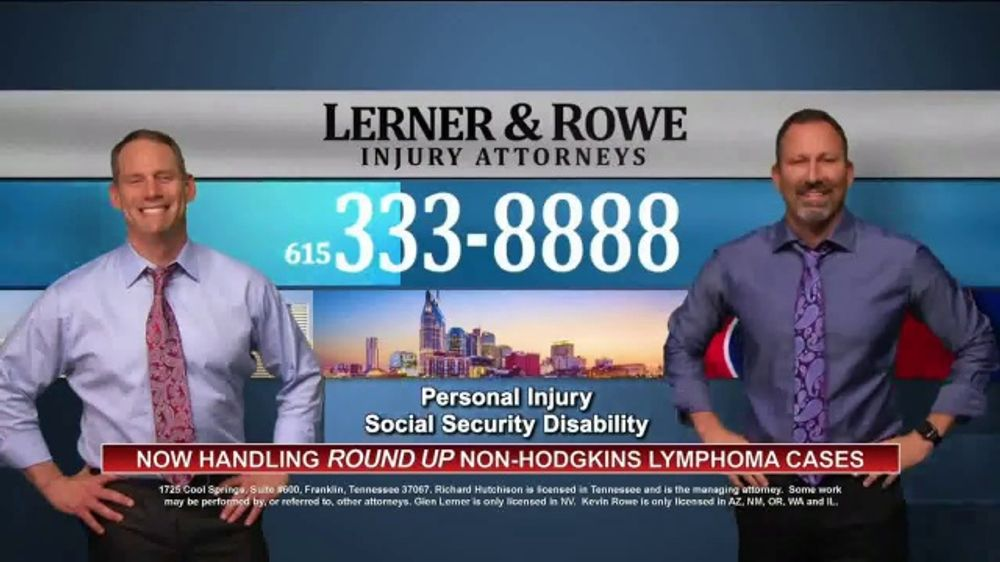 Lerner and Rowe Injury Attorneys TV Commercial, 'Non-Hodgkins Lymphoma  Cases' - Video