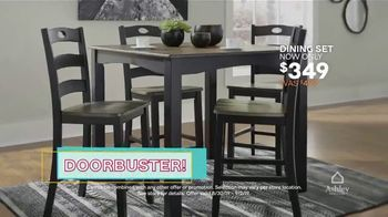 Ashley HomeStore Labor Day Sale TV Spot, 'Doorbusters: Dining Set' Song by Midnight Riot - Thumbnail 8