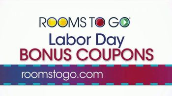 Rooms to Go TV Spot, '2019 Labor Day Bonus Coupons' - Thumbnail 1
