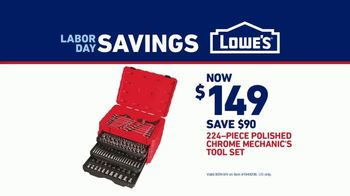 Lowe's Labor Day Savings TV Spot, 'Craftsman 224-Piece Tool Set' - Thumbnail 7
