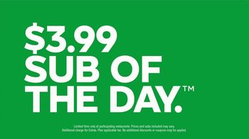 Subway $3.99 Sub of the Day TV Spot, 'Make It Count: Chicken Teriyaki, Turkey and Italian BMT' - Thumbnail 5