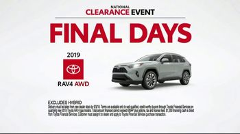 Toyota National Clearance Event TV Spot, 'Final Days: 2019s' [T2] - Thumbnail 6