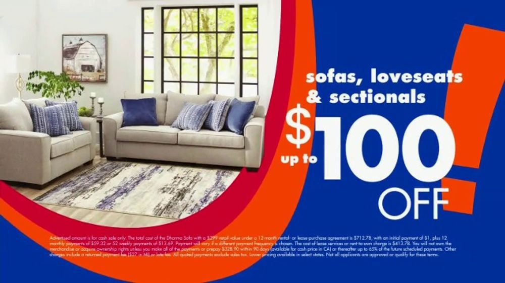Big Lots Big Labor Day Sale TV Commercial, \'$1 Initial Payment: Sofa,  Loveseat and Sectionals\' - Video