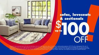 Big Lots Big Labor Day Sale TV Spot, '$1 Initial Payment: Sofa, Loveseat and Sectionals'