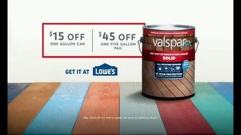 Valspar All-Weather Stain TV Spot, 'Protect Your Deck: Big Savings' - Thumbnail 8