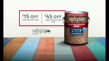 Valspar All-Weather Stain TV Spot, 'Protect Your Deck: Big Savings' - Thumbnail 7