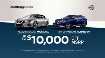 AutoNation 72 Hour Flash Clearance TV Spot, 'Labor Day: 2019 Nissan Maxima and Murano' - 1 commercial airings