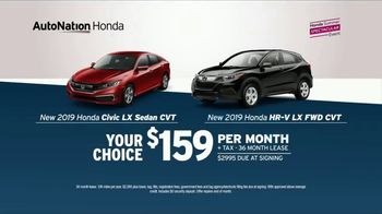 AutoNation 72 Hour Flash Clearance TV Spot, 'Labor Day: 2019 Honda Civic and HR-V' - Thumbnail 4