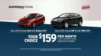 AutoNation 72 Hour Flash Clearance TV Spot, 'Labor Day: 2019 Honda Civic and HR-V' - Thumbnail 6