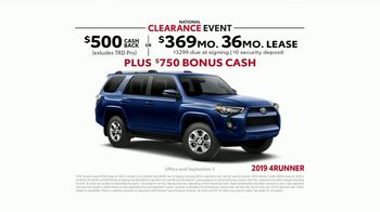 Toyota National Clearance Event TV Spot, 'Last of the 2019s' [T2] - Thumbnail 7