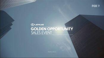 Lexus Golden Opportunity Sales Event TV Spot, 'Performance' [T2] - Thumbnail 1