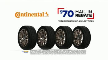 NTB TV Spot, 'Buy Three Tires, Get One Free: $70 Continental Rebate and Oil Change' - Thumbnail 3