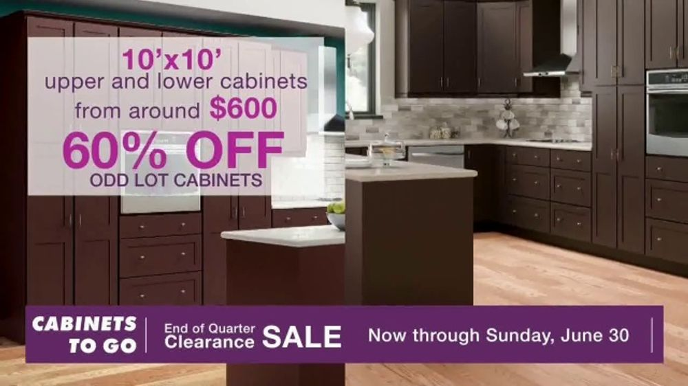 Cabinets To Go End Of Quarter Clearance Sale Tv Commercial