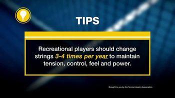 Tennis Industry Association TV Spot, 'Tips: Restringing Racquets' Feat. Angelique Kerber, Denis Shapovalov - Thumbnail 9