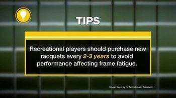 Tennis Industry Association TV Spot, 'Tips: New Racquets' Feat. Caroline Wozniacki, Rafael Nadal - Thumbnail 8