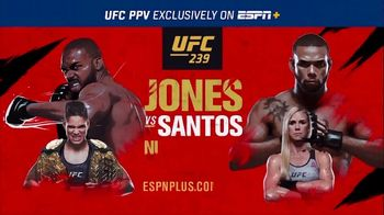 ESPN+ TV Spot, 'UFC 239: Jones vs. Santos'