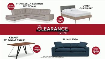Dania Furniture Clearance Event TV Spot, 'Modern and Contemporary: 60 Percent'