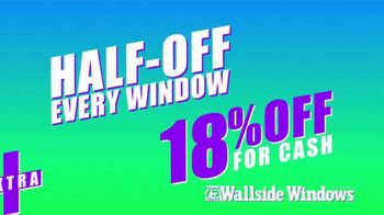 Wallside Windows 75th Anniversary TV Spot, 'Half-Off Every Window' - Thumbnail 1