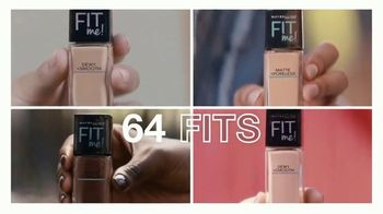 Maybelline New York Fit Me! Foundation TV Spot, '64 Fits' - Thumbnail 6
