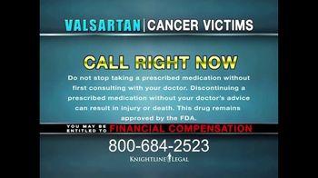 Knightline Legal TV Spot, 'Valsartan: Cancer Victims' - Thumbnail 9