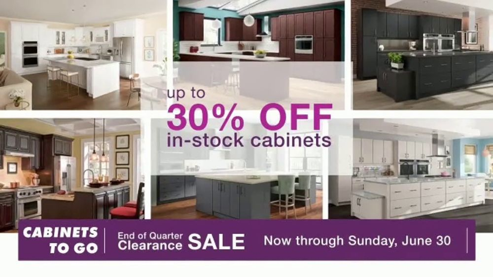 Cabinets To Go End of Quarter Clearance Sale TV Commercial ...
