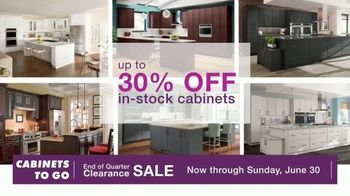 Cabinets To Go End of Quarter Clearance Sale TV Spot, 'Your Dream Kitchen is on Sale' - Thumbnail 4