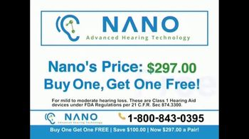 Nano Hearing Aids TV Spot, 'Buy One, Get One Free' - Thumbnail 6