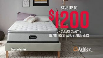 Ashley HomeStore Stars & Stripes Mattress Event TV Spot, 'Beautyrest Adjustable Sets'