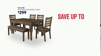Ashley HomeStore Stars & Stripes Event TV Spot, 'Save 30 Percent on Dining Table' Song by Midnight Riot - Thumbnail 3