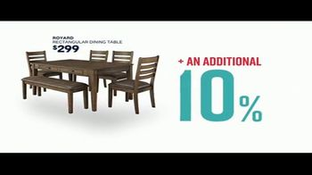 Ashley HomeStore Stars & Stripes Event TV Spot, 'Extended: Dining Table' Song by Midnight Riot - Thumbnail 4