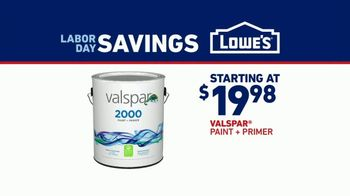 Lowe's Labor Day Savings TV Spot, 'Do It Right: Valspar Paint + Primer' - Thumbnail 7