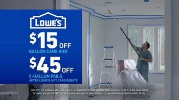 Lowe's Labor Day Savings TV Spot, 'Refreshing Updates: Appliances & Valspar Paint' - Thumbnail 7