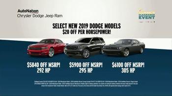 AutoNation 72 Hour Flash Clearance TV Spot, 'Labor Day: 2019 Dodge Models' - Thumbnail 3