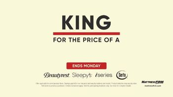 Mattress Firm Labor Day Sale TV Spot, '$600 Savings and Free Adjustable Base: Ends Monday'