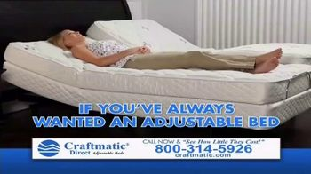 Craftmatic Labor Day Closeout Event TV Spot, 'The Adjustable Bed of Your Dreams' - Thumbnail 1
