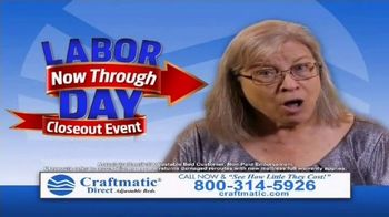 Craftmatic Labor Day Closeout Event TV Spot, 'The Adjustable Bed of Your Dreams' - Thumbnail 2