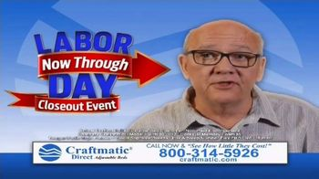 Craftmatic Labor Day Closeout Event TV Spot, 'The Adjustable Bed of Your Dreams' - Thumbnail 6
