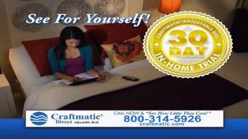 Craftmatic Labor Day Closeout Event TV Spot, 'The Adjustable Bed of Your Dreams' - Thumbnail 7