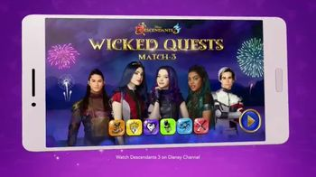 DisneyNOW TV Spot, 'Descendents 3: Wicked Quests Match-3'
