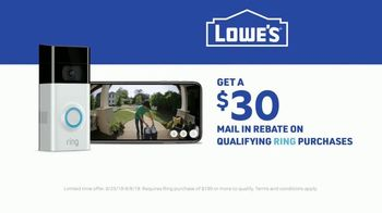 Lowe's TV Spot, 'You Get It Done: Ring Video Doorbell + $30 Mail In Rebate' - Thumbnail 10