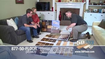 50 Floor TV Spot, 'New Floors: Free Installation' - Thumbnail 1